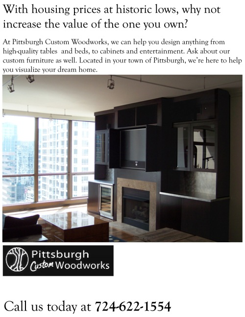 Pittsburgh Custom Woodworks Entertainment Center