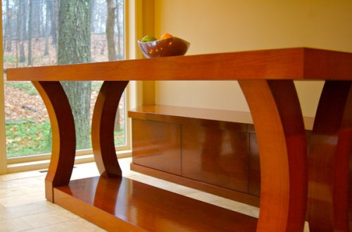 Table and Bench from Pittsburgh Custom Woodworks